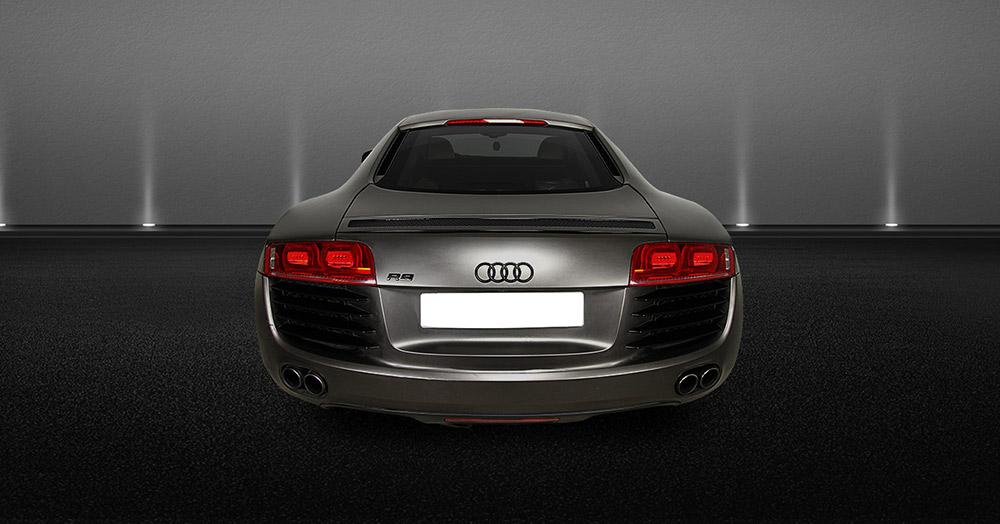 Audi R8 V8 rear view