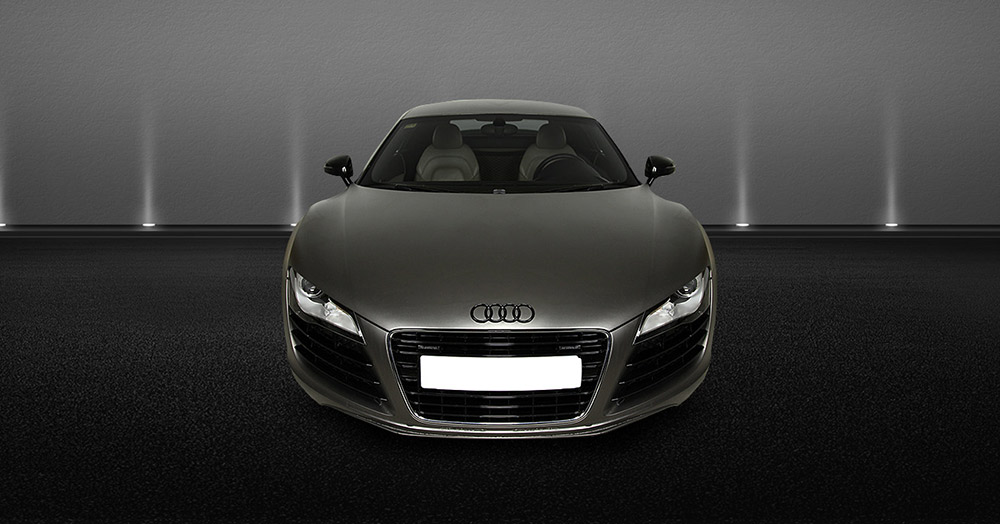 Audi R8 V8 front view