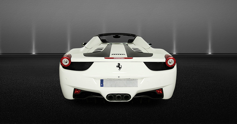 Ferrari 458 rear views