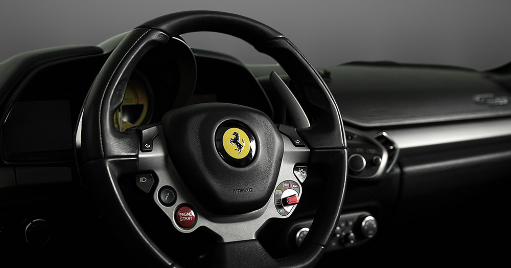 Ferrari 458 steering wheel
