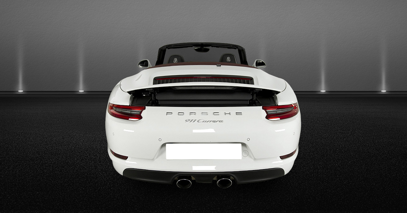 Porsche 911 Cabrio rear views